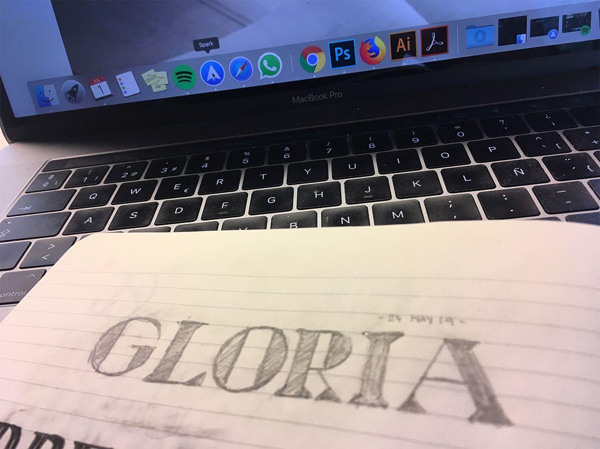 gloria tipografia