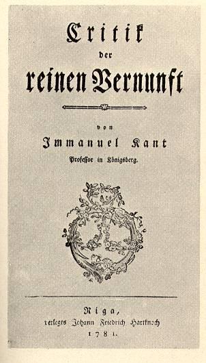 Portada del libro Crítica de la Razón Pura de Emmanuel Kant