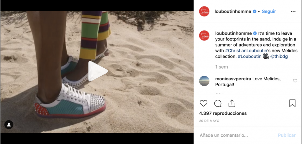 Sneakers de Louboutin Hombre con acabado de tachuelas