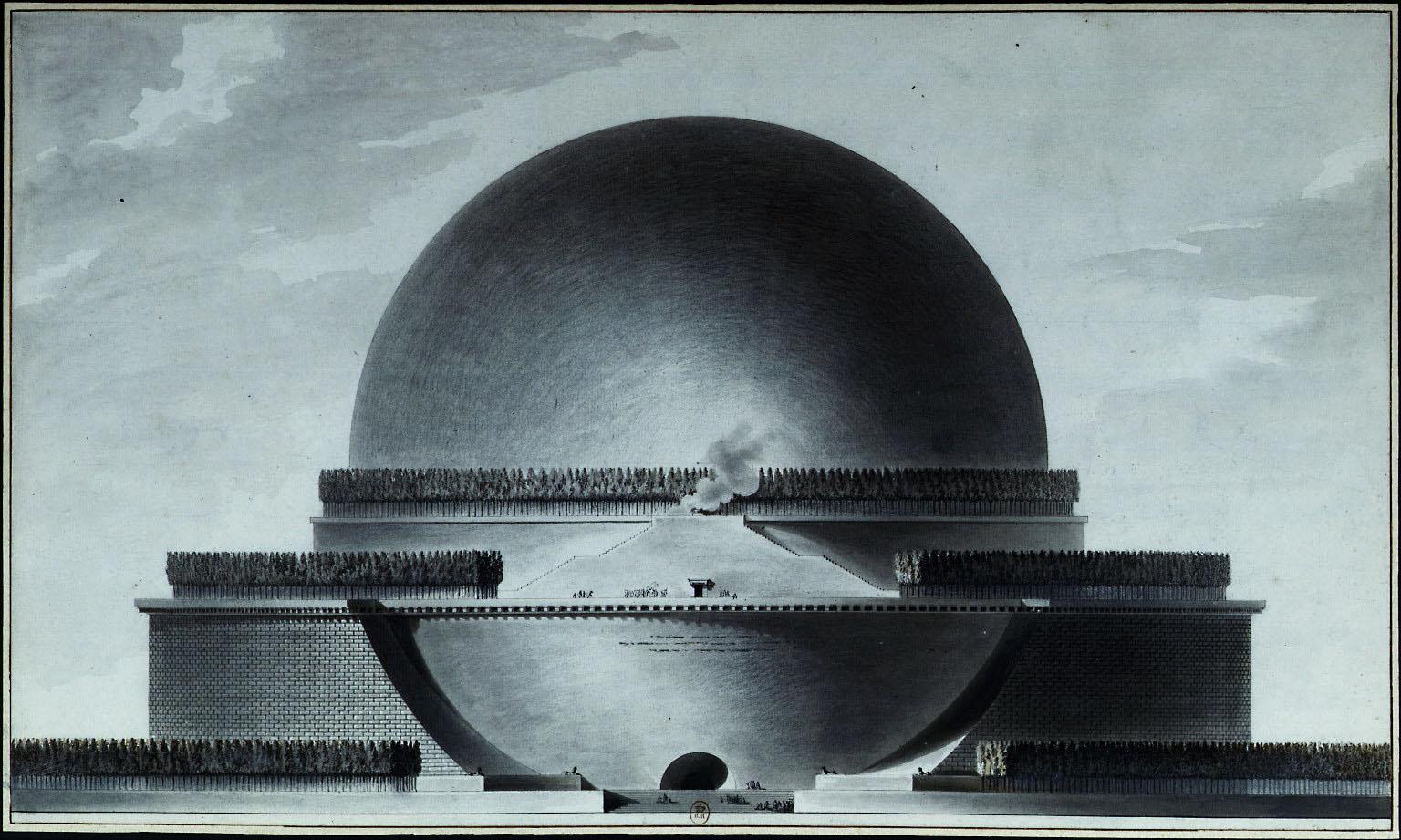 Cenotafio-Isaac-Newton.E-L-Boullée.1784.encontrandolalentitud