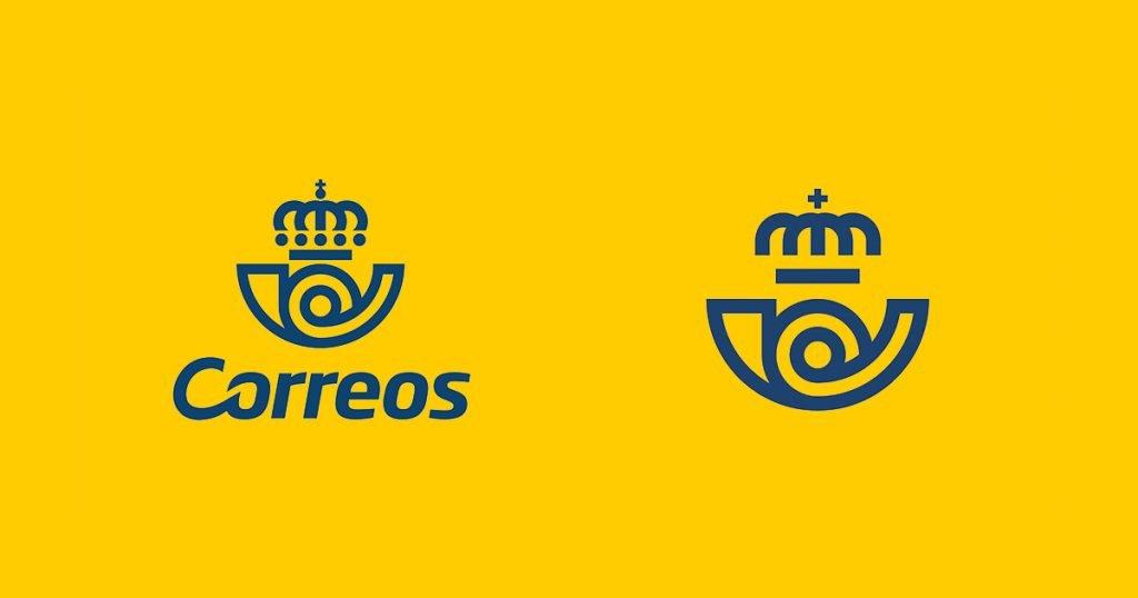 Imagen del logo antiguo y del nuevo de correos